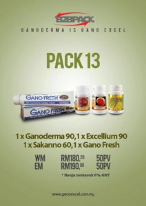 Gano excel Malaysia pack 13 Ganoderma